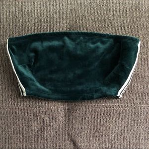 Velvet Green Sporty Crop Top From Akira